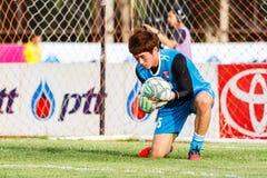 SISAKET THAILAND-JUNE 21: Chanin Sae-Eae of Singhtarua FC. Stock Image
