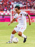 SISAKET THAILAND-JUNE 8: Datsakorn Thonglao of Muangthong Utd. Royalty Free Stock Image