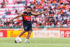 SISAKET THAILAND-JUNE 8: Datsakorn Thonglao of Muangthong Utd. Royalty Free Stock Images