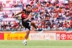 SISAKET THAILAND-JUNE 8: Datsakorn Thonglao of Muangthong Utd. Stock Photography