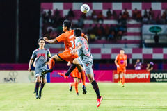 SISAKET THAILAND-JUNE 29: Eakkapan Nuikhao of Sisaket FC. Royalty Free Stock Photography