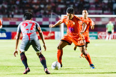 SISAKET THAILAND-JUNE 29: Eakkapan Nuikhao of Sisaket FC. Royalty Free Stock Images