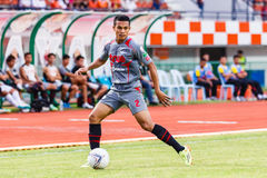 SISAKET THAILAND-JUNE 29: Ekkachai Sumrei of Bangkok Utd. Stock Photography