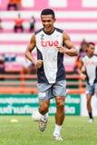 SISAKET THAILAND-JUNE 29: Ekkachai Sumrei of Bangkok Utd. Royalty Free Stock Image
