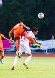 SISAKET THAILAND-JUNE 8: Ekkapan Jandakorn of Sisaket FC. Royalty Free Stock Image