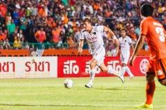 SISAKET THAILAND-JUNE 8: Erik Paartalu of Muangthong Utd. Stock Image