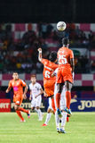 SISAKET THAILAND-JUNE 8: Godwin Antwi of Sisaket FC. (orange) Stock Images