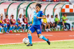 SISAKET THAILAND-JUNE 21: Hironori Saruta of Singhtarua FC. Stock Image