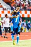 SISAKET THAILAND-JUNE 21: Hironori Saruta of Singhtarua FC. Royalty Free Stock Image