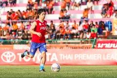 SISAKET THAILAND-JUNE 21: Hironori Saruta of Singhtarua FC. Stock Images