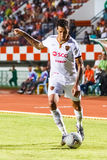 SISAKET THAILAND-JUNE 8: Jay Bothroyd of Muangthong Utd. Royalty Free Stock Photography