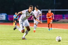 SISAKET THAILAND-JUNE 8: Jay Bothroyd of Muangthong Utd. (white) Royalty Free Stock Photography