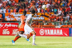SISAKET THAILAND-JUNE 8: Jay Bothroyd of Muangthong Utd. (white) Stock Photo