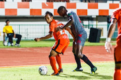 SISAKET THAILAND-JUNE 29: Jirawat Daokhao of Sisaket FC. (orange Stock Photography