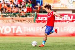 SISAKET THAILAND-JUNE 21: Joo śpiewający Singhtarua FC Fotografia Royalty Free