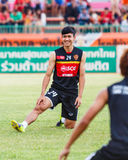 SISAKET THAILAND-JUNE 8: Kasidech Wettayawong of Muangthong Utd. Stock Photo