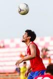 SISAKET THAILAND-JUNE 21: Kroekrit Thaweekarn of Singhtarua FC. Stock Photos