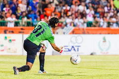 SISAKET THAILAND-JUNE 8: Lucas Daniel of Sisaket FC. Royalty Free Stock Photo