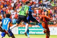 SISAKET THAILAND-JUNE 21: Lucas Daniel of Sisaket FC. (green) Stock Photography