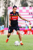 SISAKET THAILAND-JUNE 8: Piyaphon Phanichakul of Muangthong Utd. Stock Photography