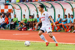 SISAKET THAILAND-JUNE 8: Piyaphon Phanichakul of Muangthong Utd. Stock Images