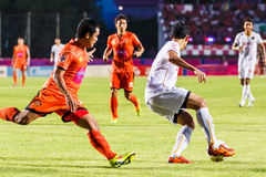 SISAKET THAILAND-JUNE 8: Piyaphon Phanichakul of Muangthong Utd. Royalty Free Stock Photos