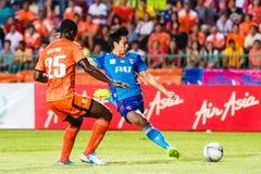 SISAKET THAILAND-JUNE 21: Piyawit Janput of Singhtarua FC. (Blue Stock Image