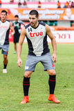 SISAKET THAILAND-JUNE 29: Romain Gasmi of Bangkok Utd. Royalty Free Stock Photo