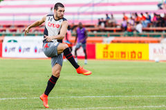 SISAKET THAILAND-JUNE 29: Romain Gasmi of Bangkok Utd. Royalty Free Stock Photography