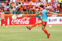 SISAKET THAILAND-JUNE 21: Sarayuth Chaikamdee of Sisaket FC. Royalty Free Stock Photos