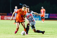 SISAKET THAILAND-JUNE 29: Sarayuth Chaikamdee of Sisaket FC. Royalty Free Stock Image