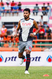 SISAKET THAILAND-JUNE 29: Sompong Soleb of Bangkok Utd. Royalty Free Stock Images