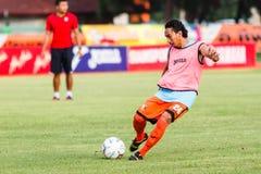 SISAKET THAILAND-JUNE 21: Somsak Wongyai of Sisaket FC. Royalty Free Stock Image