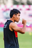 SISAKET THAILAND-JUNE 8: Teerasil Dangda of Muangthong Utd. Stock Photo