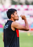 SISAKET THAILAND-JUNE 8: Teerasil Dangda of Muangthong Utd. Stock Photography