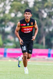 SISAKET THAILAND-JUNE 8: Teerasil Dangda of Muangthong Utd. Royalty Free Stock Photography