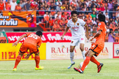 SISAKET THAILAND-JUNE 8: Teerasil Dangda of Muangthong Utd. Stock Image