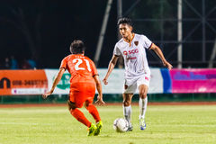 SISAKET THAILAND-JUNE 8: Teerasil Dangda of Muangthong Utd. Royalty Free Stock Images
