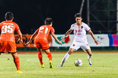 SISAKET THAILAND-JUNE 8: Teerasil Dangda of Muangthong Utd. Stock Images