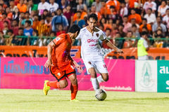 SISAKET THAILAND-JUNE 8: Teerasil Dangda of Muangthong Utd. Stock Photos