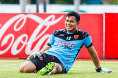 SISAKET THAILAND-JUNE 8: Vitsanusak Kaewruang of Muangthong Utd. Stock Photography