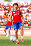 SISAKET THAILAND-JUNE 21: Warut Sap-So of Singhtarua FC. Stock Photo