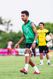 SISAKET THAILAND-JUNE 8: Weerawut Kayem of Muangthong Utd. Stock Photography