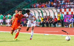 SISAKET THAILAND-JUNE 8: Weerawut Kayem of Muangthong Utd. Royalty Free Stock Photography