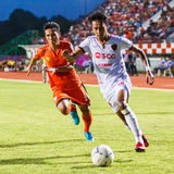 SISAKET THAILAND-JUNE 8: Weerawut Kayem of Muangthong Utd. Royalty Free Stock Photo