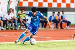 SISAKET THAILAND-JUNE 21: Wisarut Wai-Ngan of Singhtarua FC. Royalty Free Stock Photography