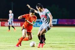SISAKET THAILAND 29. JUNI: Sarayuth Chaikamdee von Sisaket FC Lizenzfreie Stockfotos