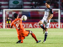 SISAKET THAILAND-MAY 28: Bavorn Tapla of Chonburi FC. (white) Royalty Free Stock Images