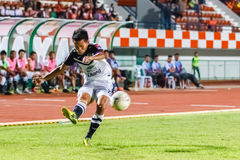 SISAKET THAILAND-MAY 28: Chonlatit Chantakam of Chonburi FC. Royalty Free Stock Photos