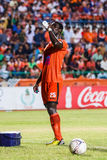 SISAKET THAILAND-MAY 28: Godwin Antwi of Sisaket FC. Royalty Free Stock Images